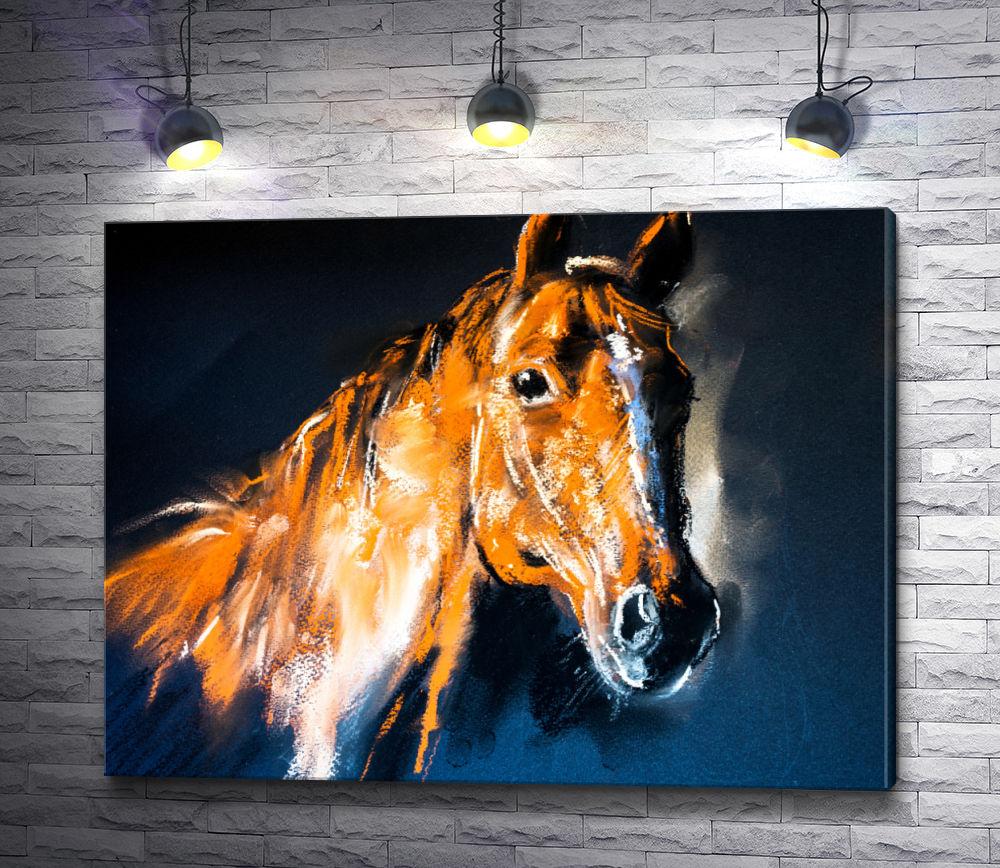 """Картина """"Коричневая лошадь """""""