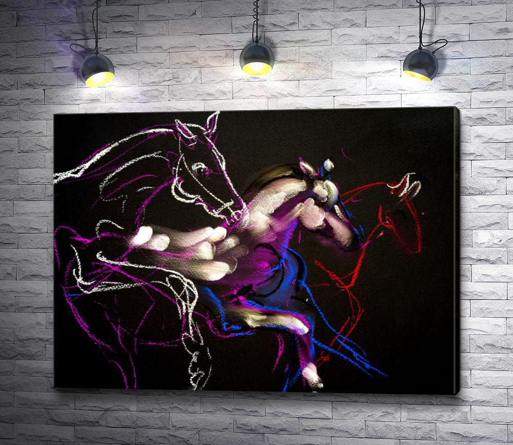 """Картина """"Бегущие лошади """""""