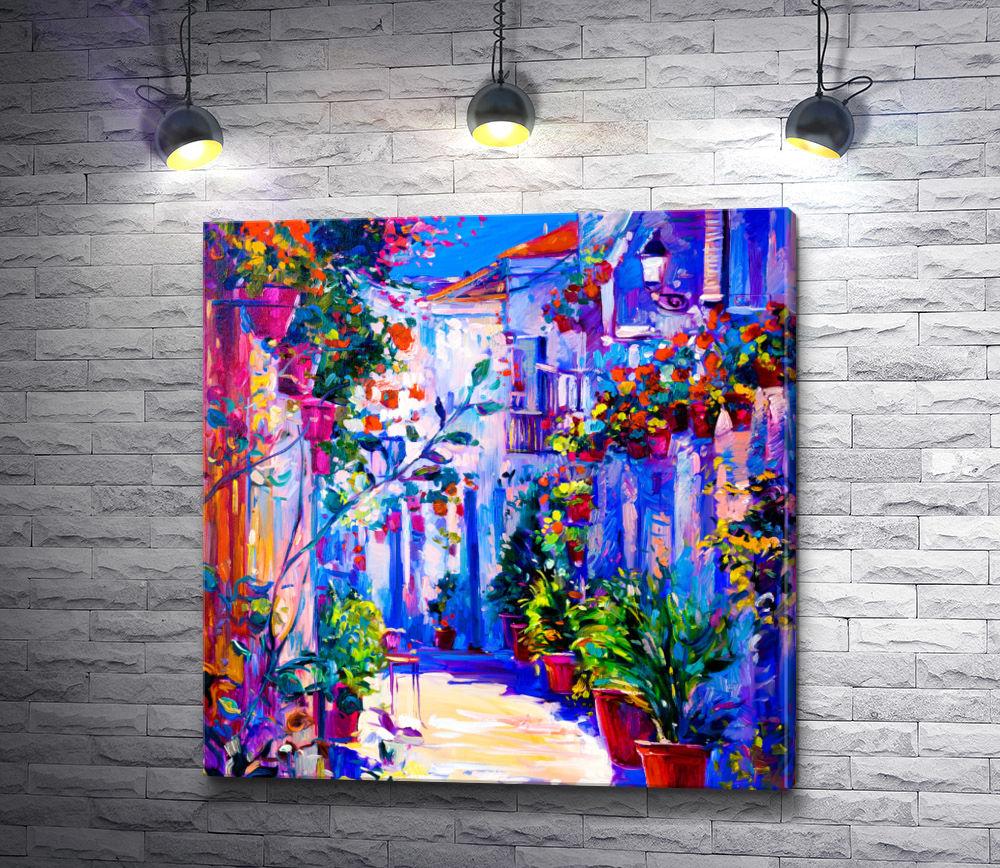 """Картина """"Город в цветах"""""""