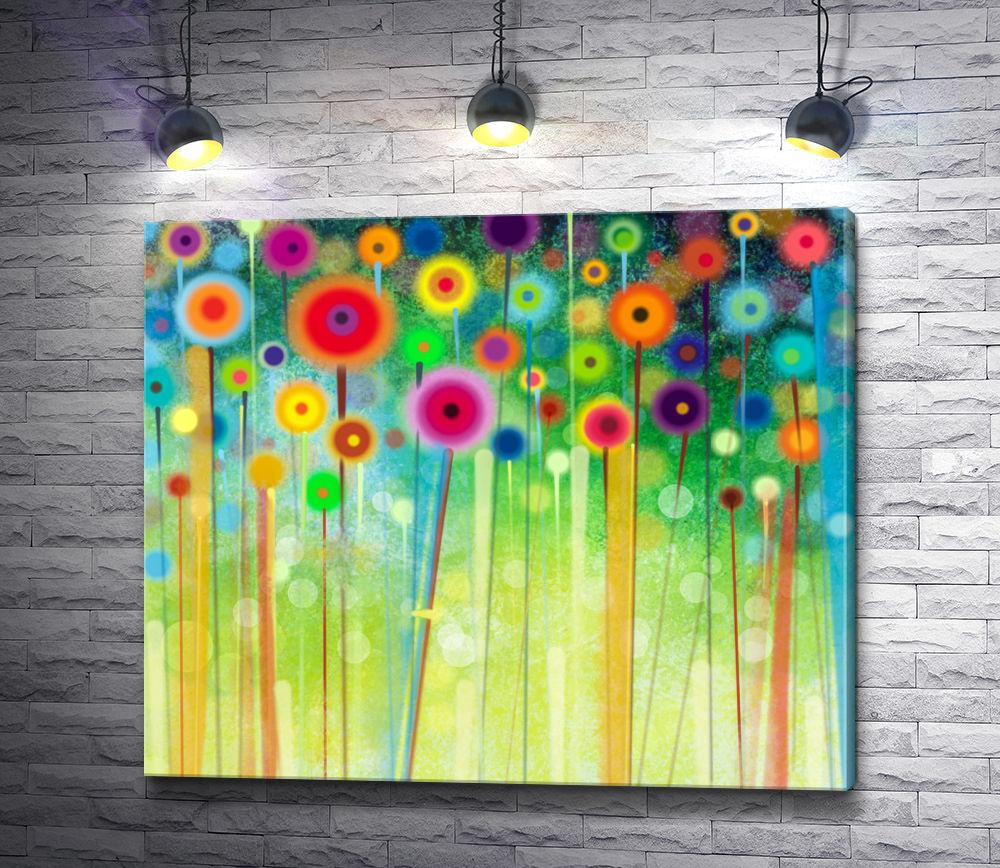 """Картина """"Цветы в абстракции """""""