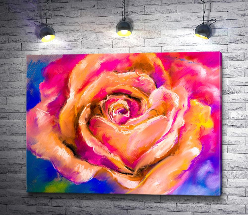 """Картина """"Бутон персикового цвета"""""""