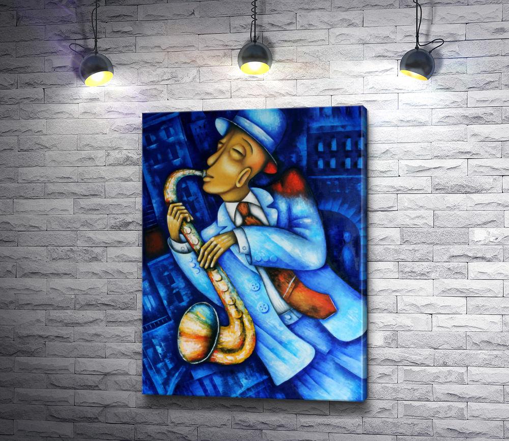 """Картина """"Джазовый музыкант-саксофонист """""""