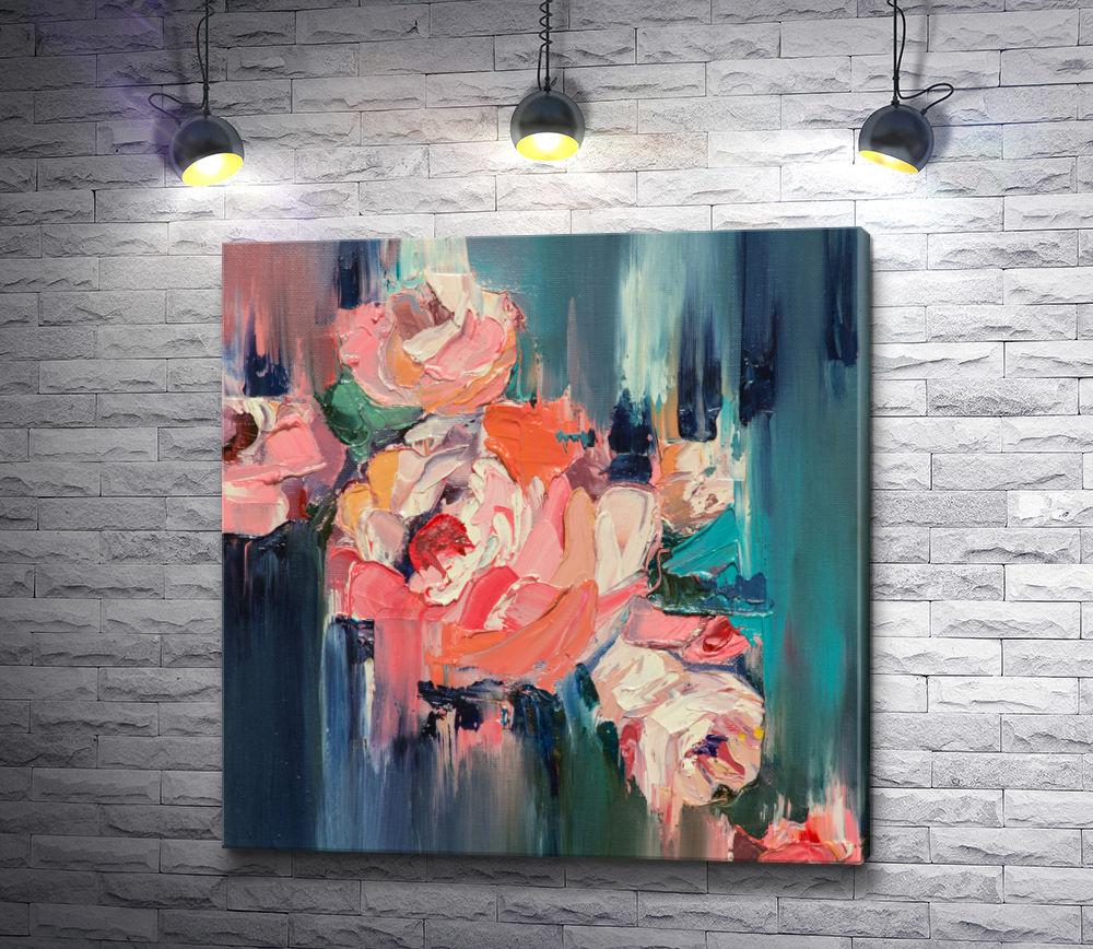 """Картина """"Розы персикового цвета """""""