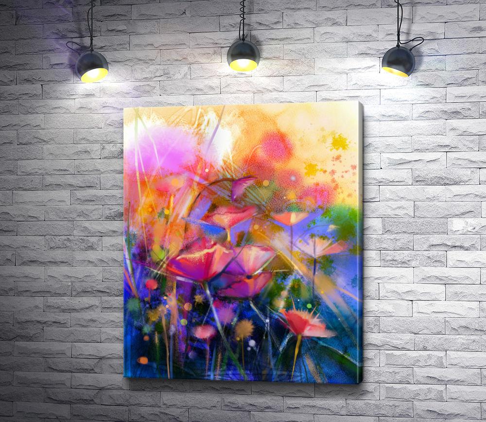 """Картина """"Весенние цветы в абстракции """""""