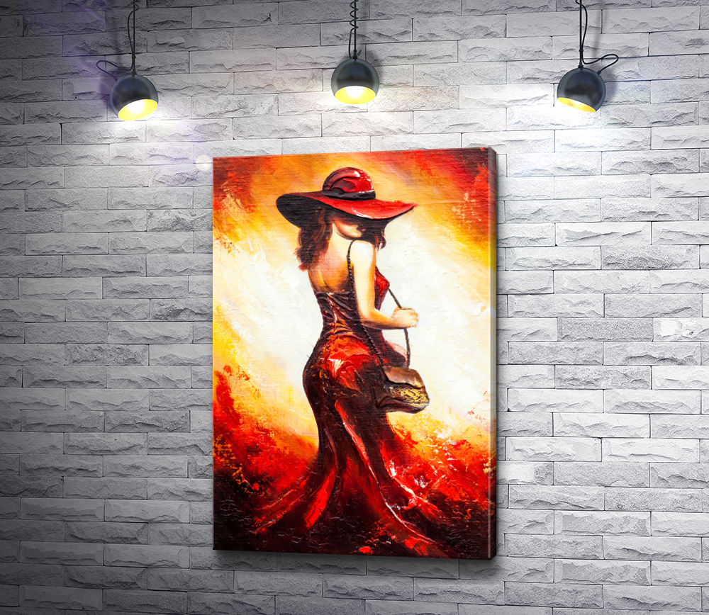 """Картина """"Леди в красном платье"""""""
