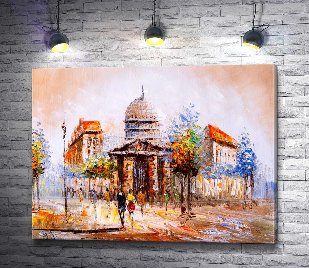 """Картина """"Архитектура в осеннем Париже """""""