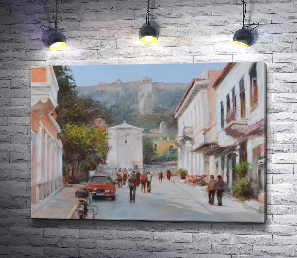 "Картина ""На одной из улиц Афин,  Греция """