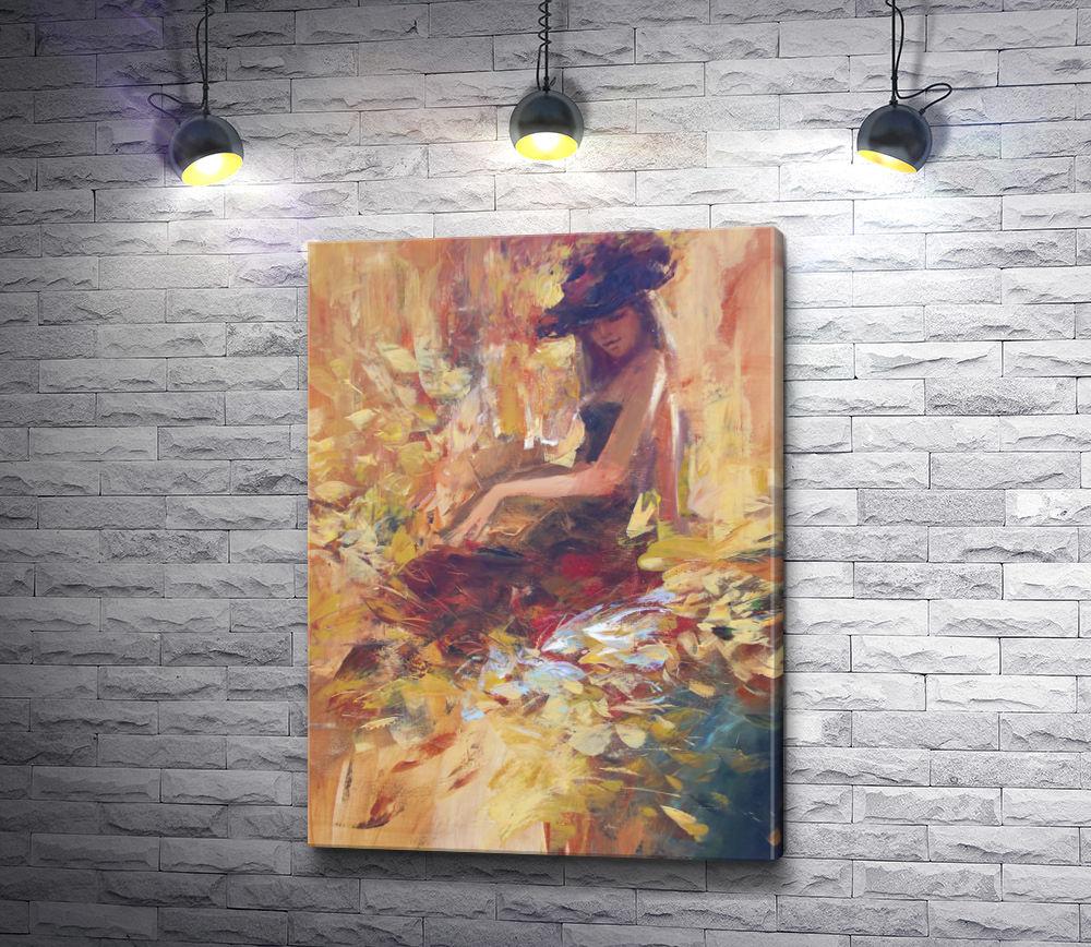 "Картина ""Девушка в шляпе """