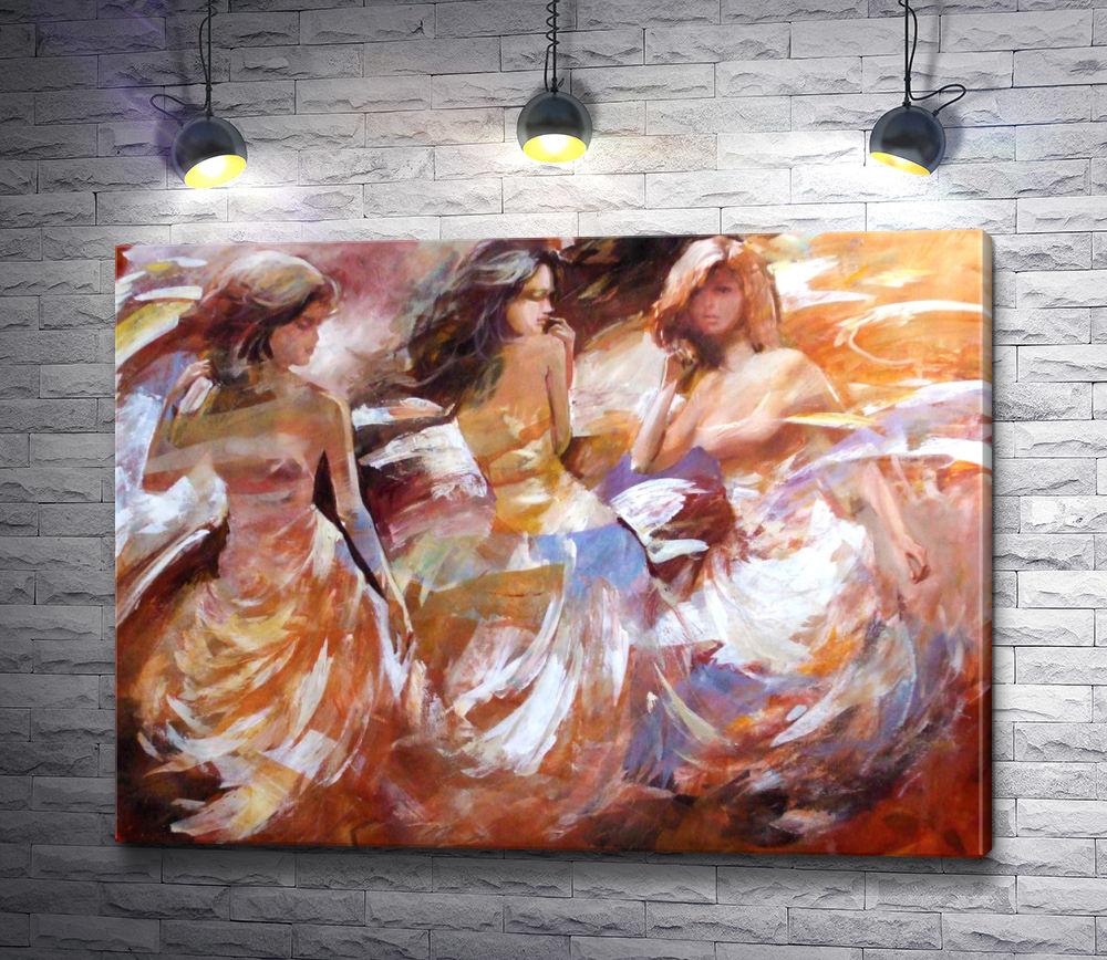 """Картина """"Девушки в вечерних платьях"""""""