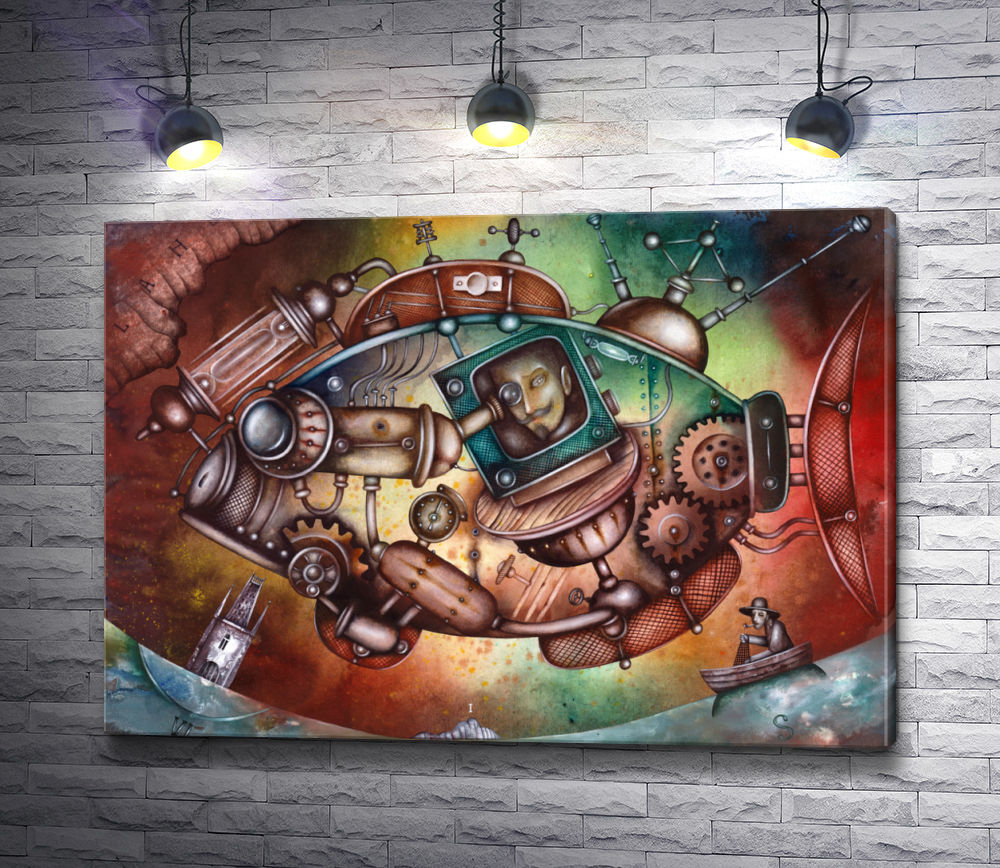 "Картина ""Рыба-подводная лодка"""