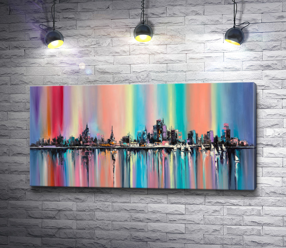 "Картина ""Город в радуге"""