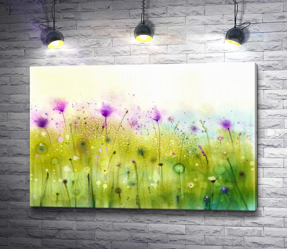 """Картина """"Весенние цветы на лугу """""""