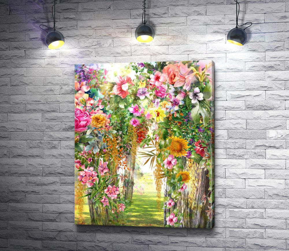 """Картина """"Арка из цветов"""""""