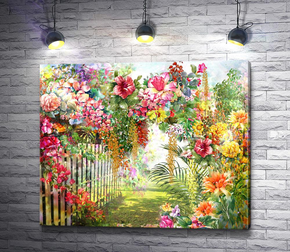 "Картина ""Цветочная аллея """