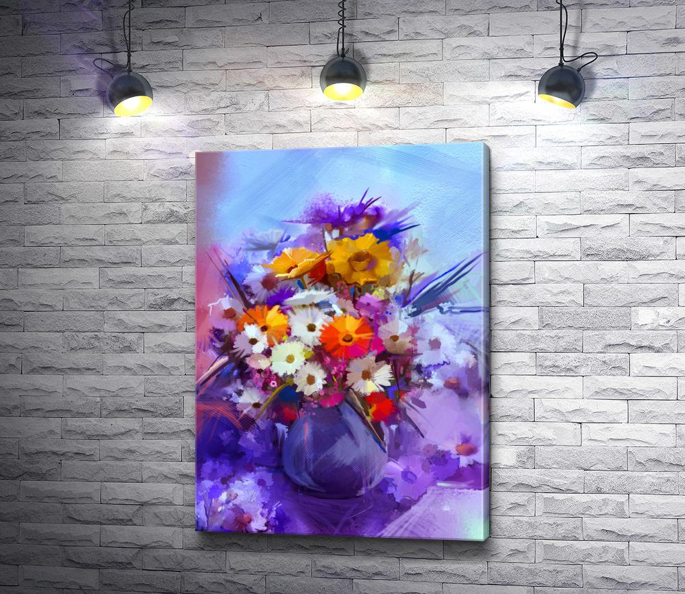 """Картина """"Букет весенних цветов в вазе"""""""