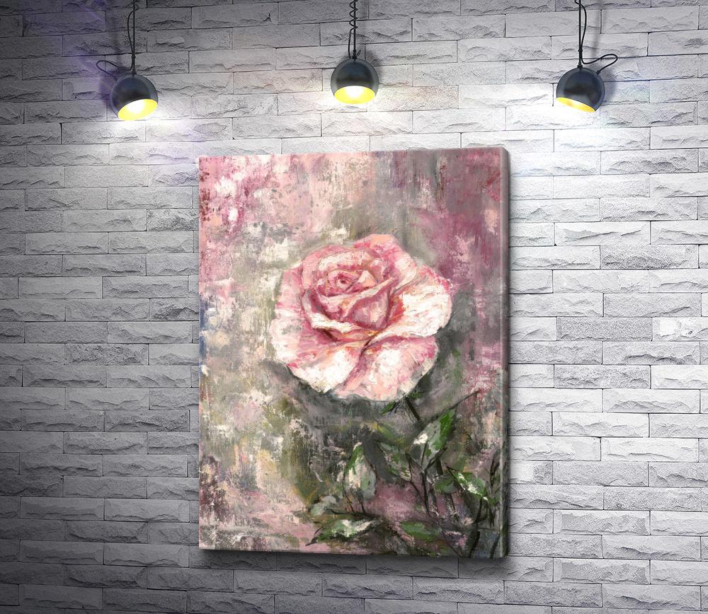 "Картина ""Одинокая роза"""