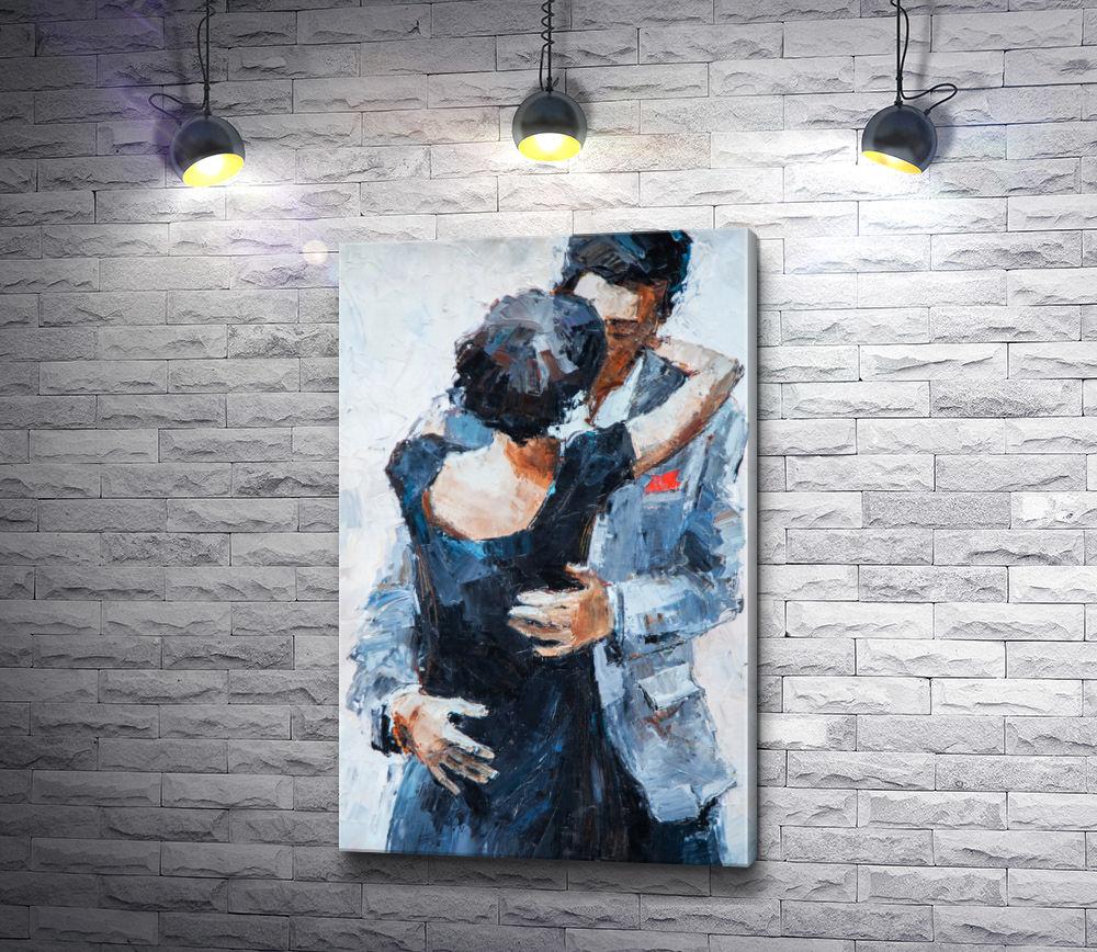 """Картина """"Мужчина и девушка в объятиях """""""