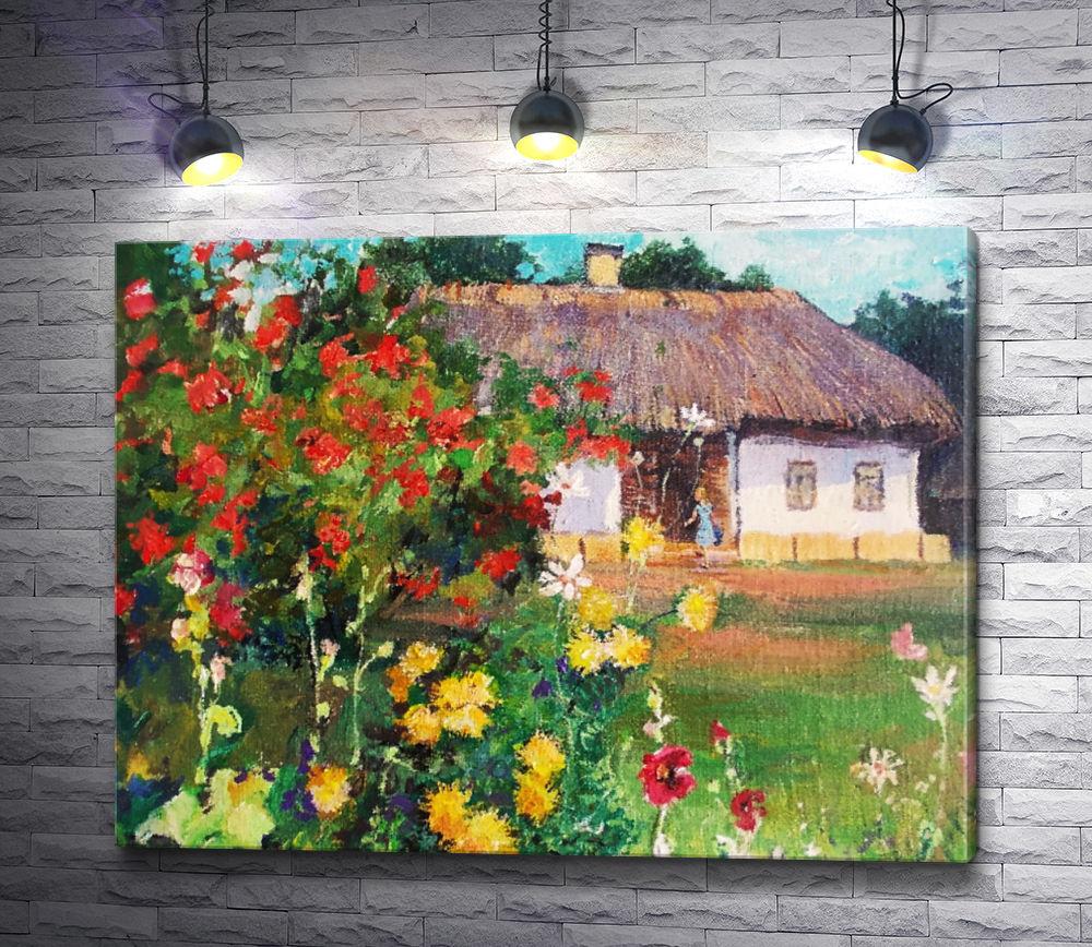 """Картина """"Сельский домик"""""""