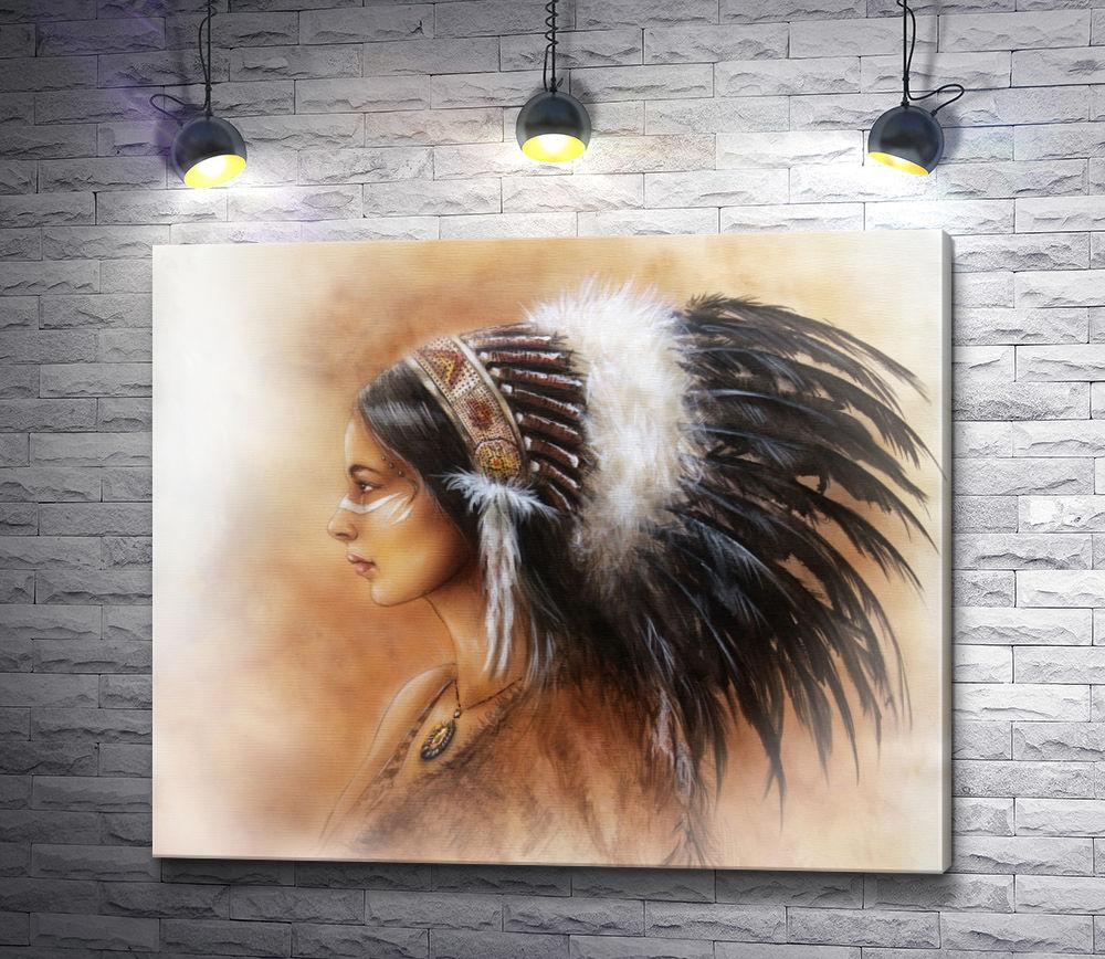 """Картина """"Индианка женщина-воин"""""""