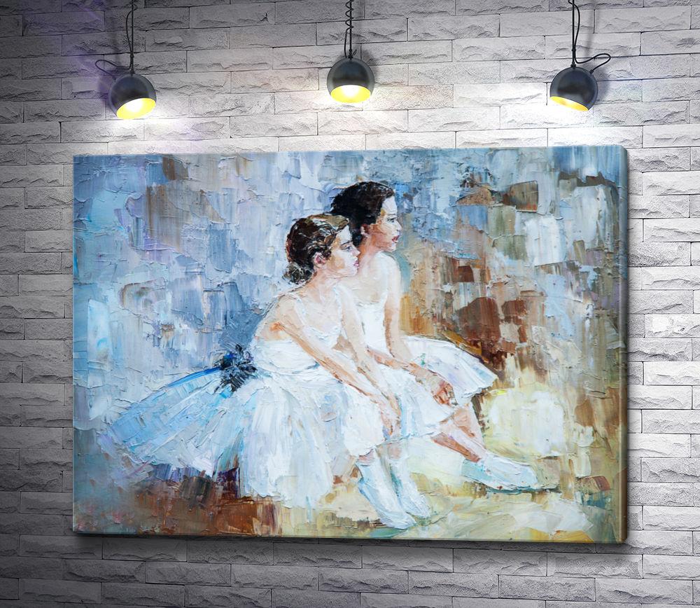 """Картина """"Девочки в бальных платьях"""""""