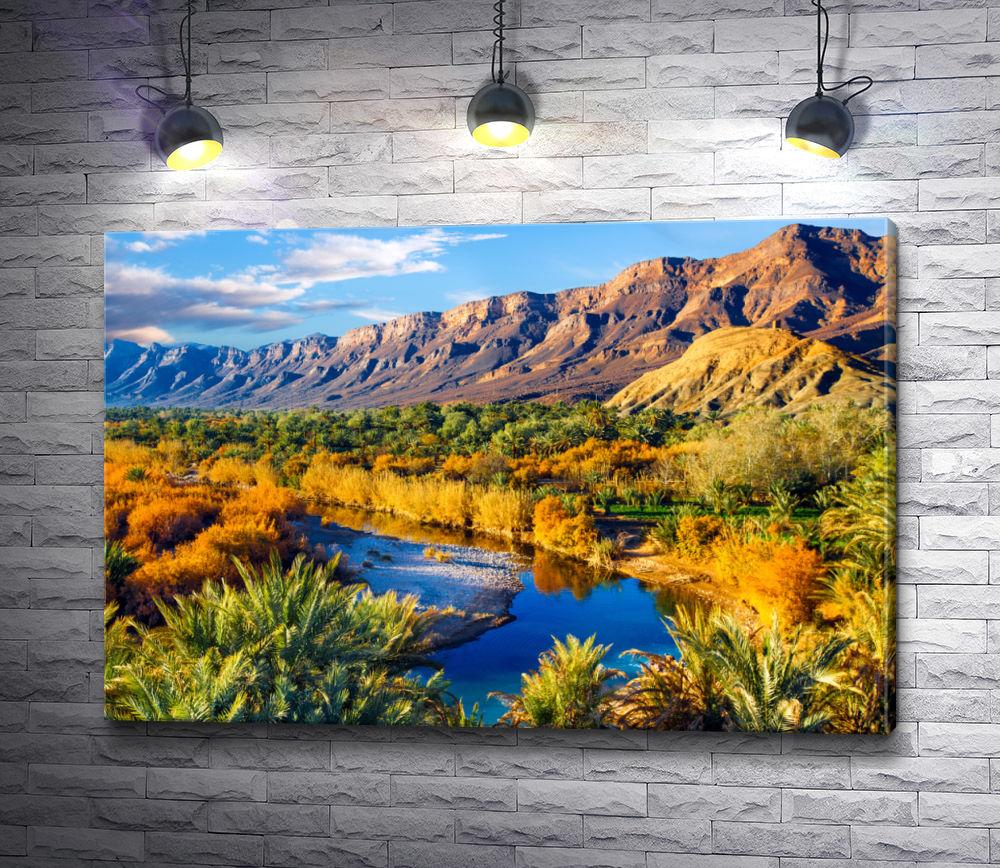 "Картина ""Горное озеро в Марокко """