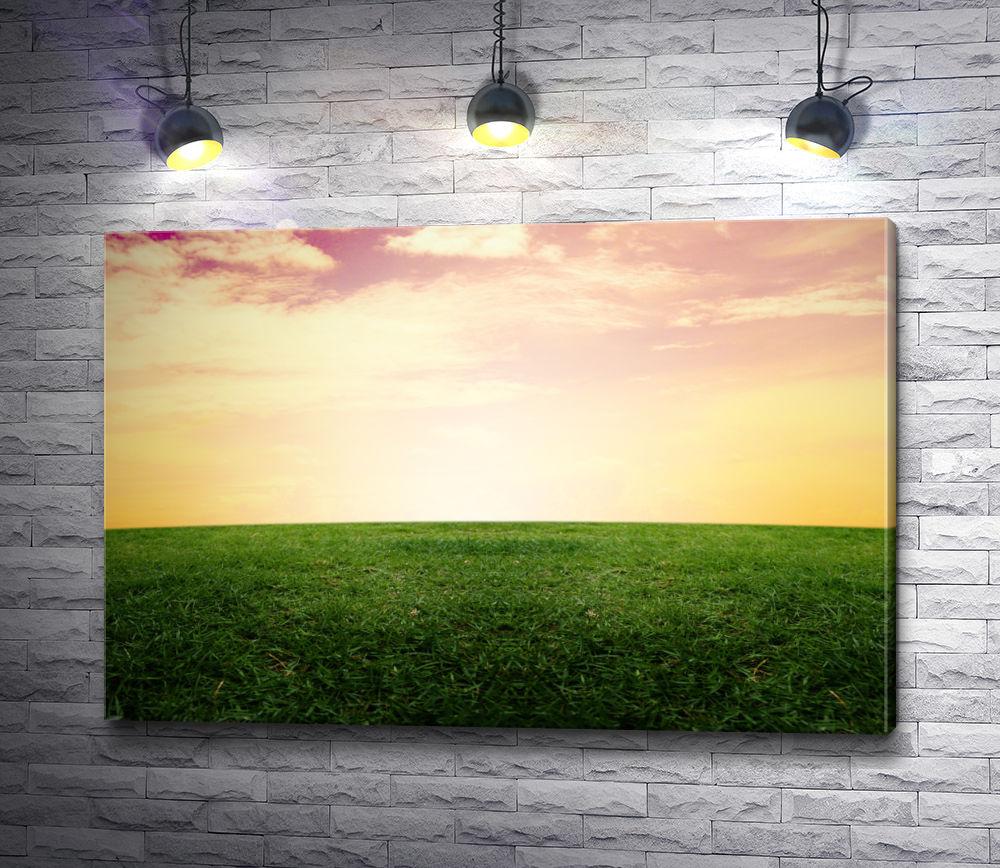 """Картина """"Сочная трава и горизонт"""""""