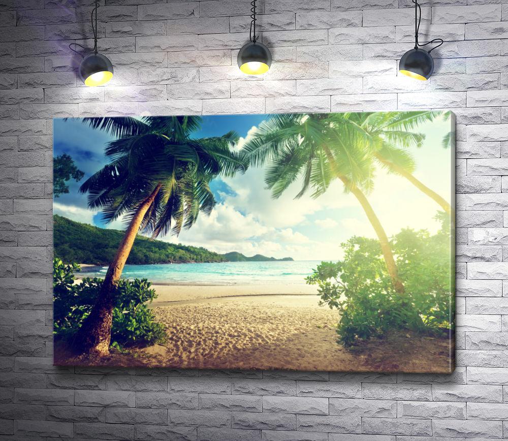 """Картина """"Пальмы, море, солнце, пляж"""""""