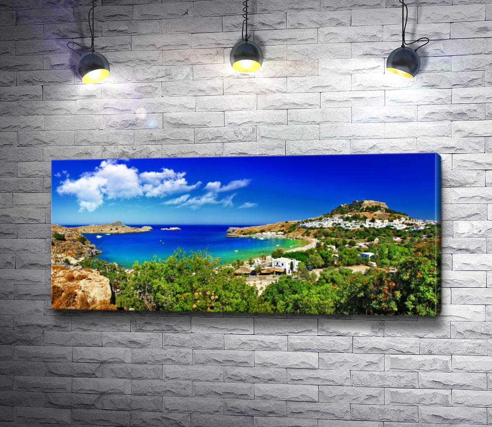 """Картина """"Залив греческого острова"""""""