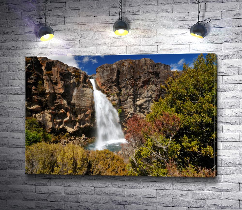 """Картина """"Водопад в Новой Зеландии"""""""