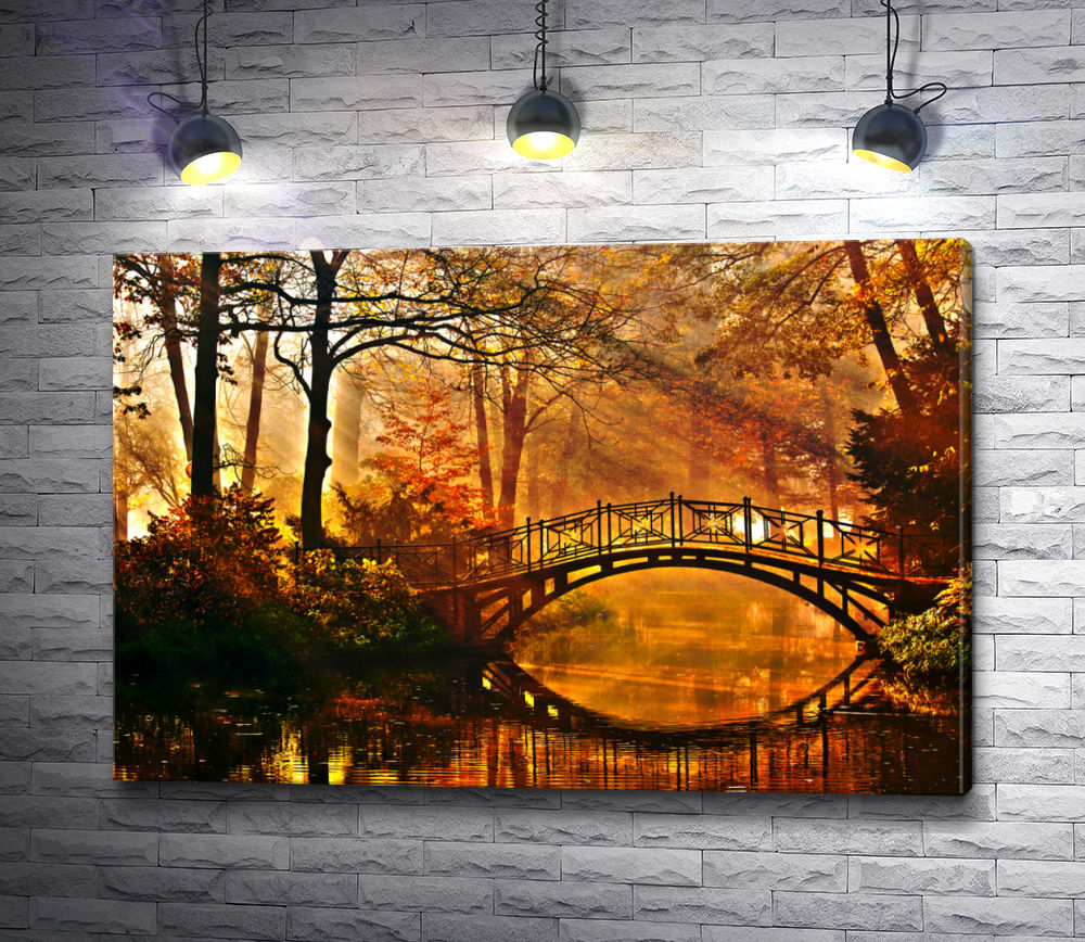 "Картина ""Осенний мост"""