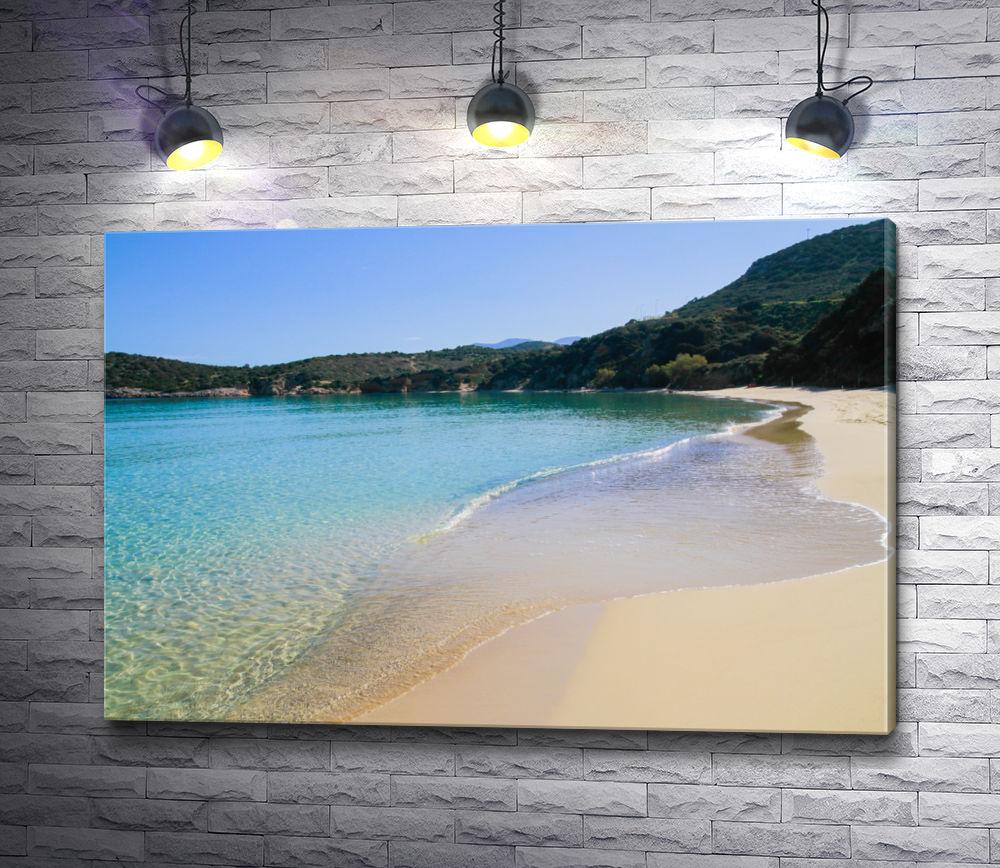 """Картина """"Пляж в горах"""""""