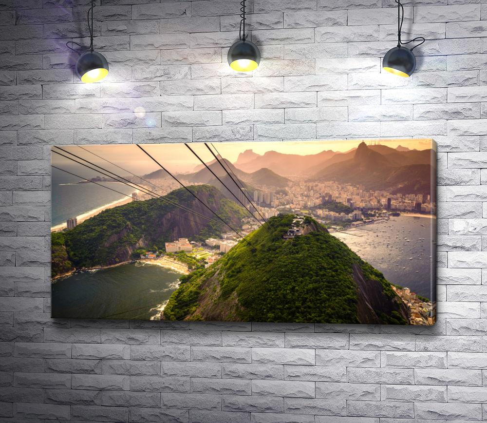 """Картина """"Невероятный пляж  Копакабана, Рио-де-Жанейро"""""""