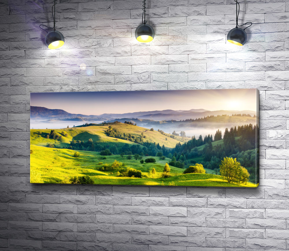 "Картина ""Бескрайний горизонт украшен красками природы"""