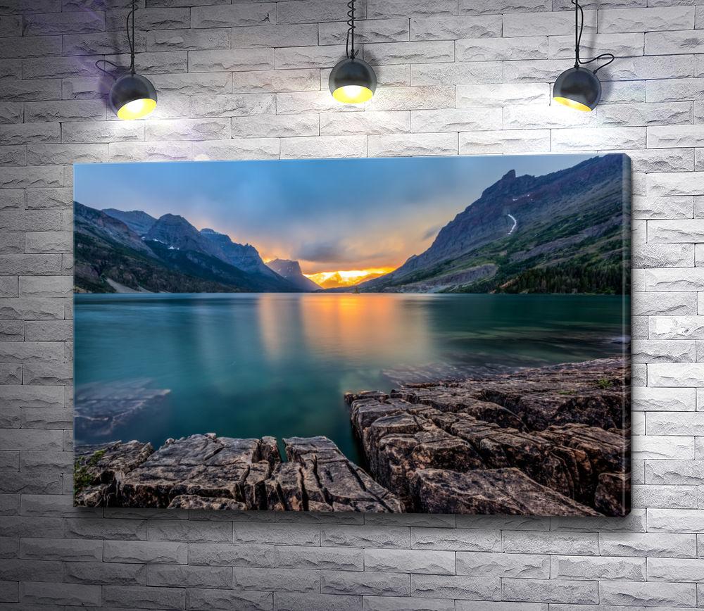 """Картина """"Холодное горное озеро"""""""