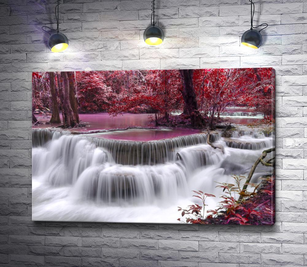 """Картина """"Деревья в водопаде"""""""
