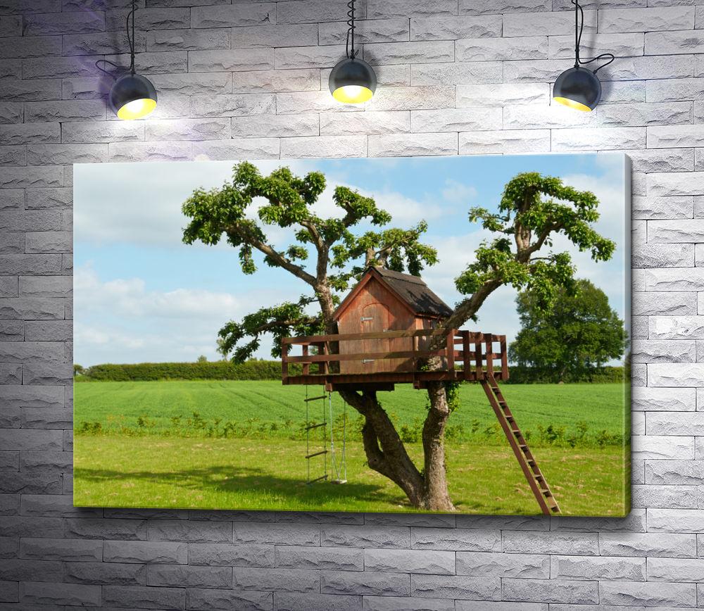 """Картина """"Мечта детства о домике на дереве"""""""