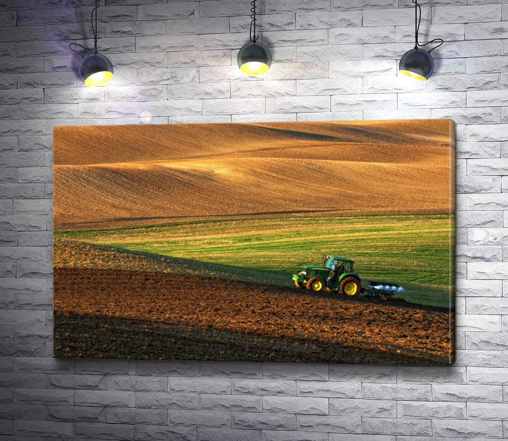 """Картина """"Трактор в поле"""""""