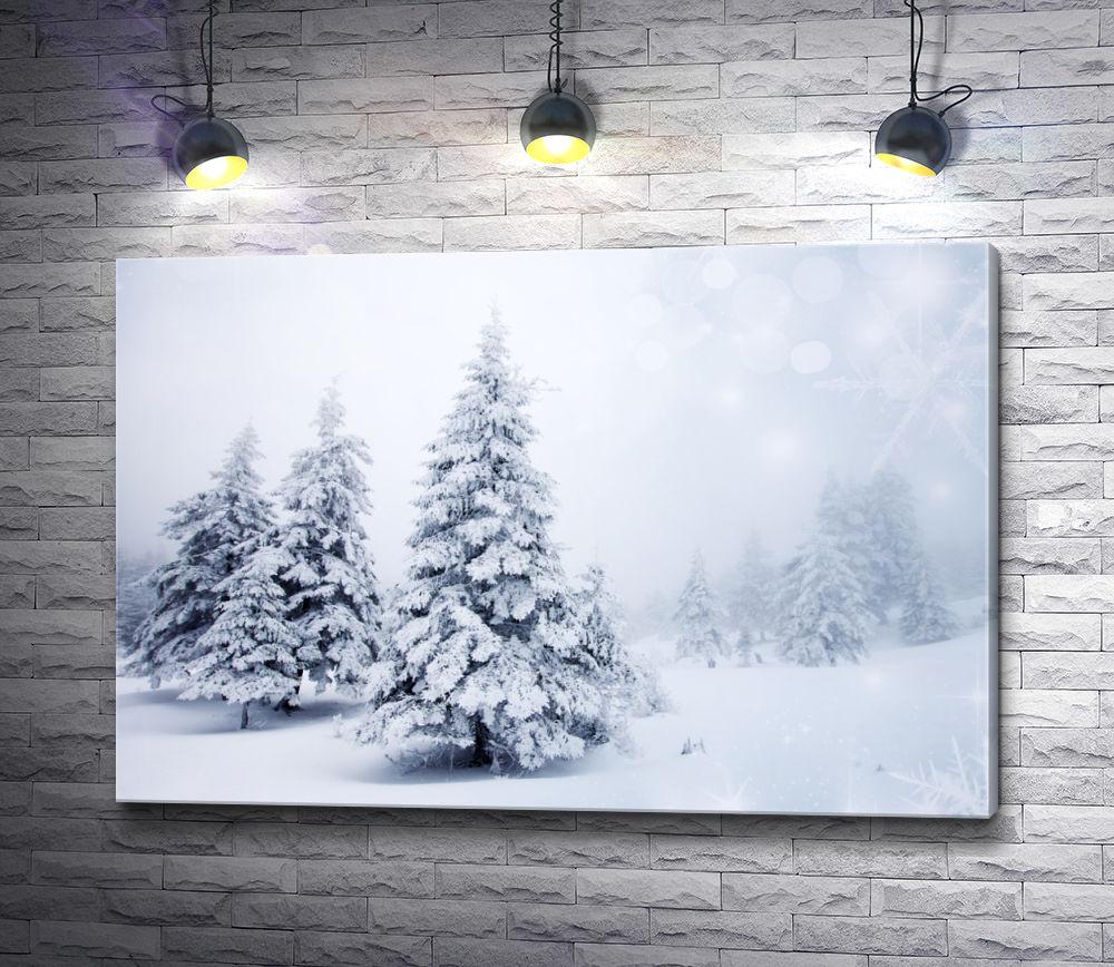 """Картина """"Ель в снегу"""""""