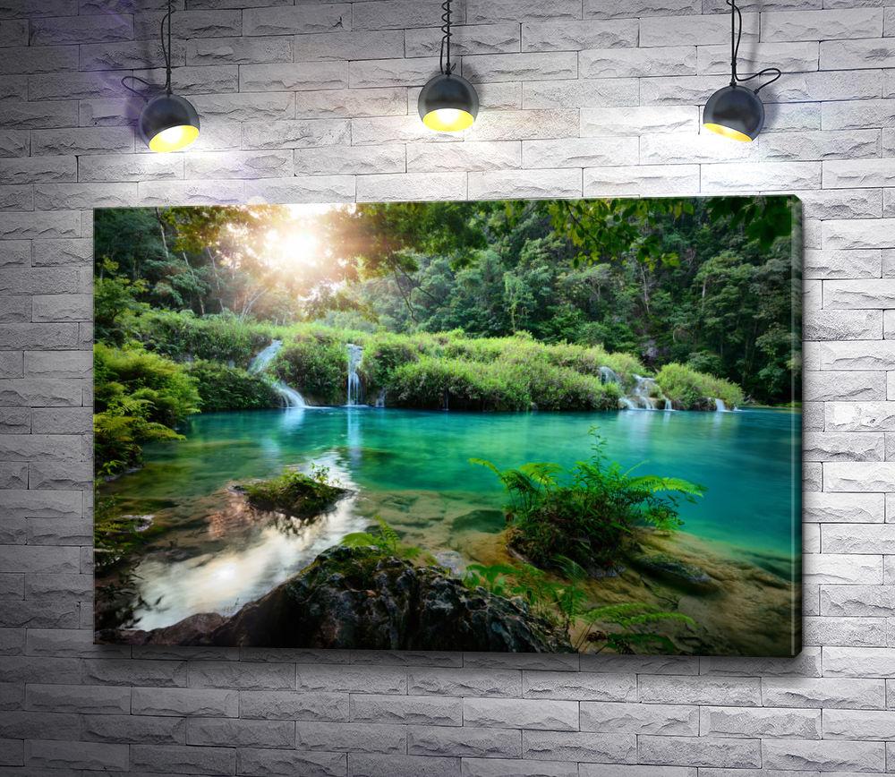 """Картина """"Солнце над горным озером"""""""