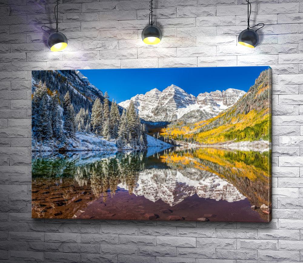 """Картина """"Зеркальный пейзаж в Колорадо"""""""