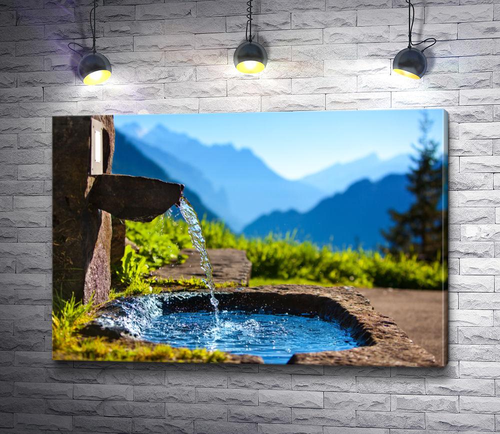"""Картина """"Источник в горах"""""""