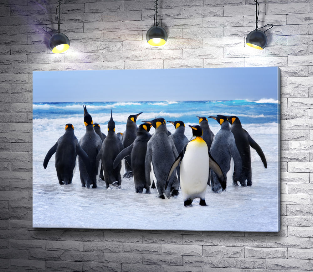 "Картина ""Пингвины на прогулке"""