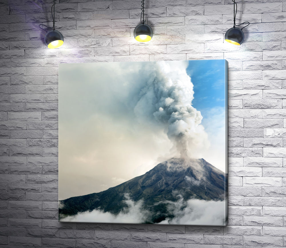"""Картина """"Извержение вулкана"""""""