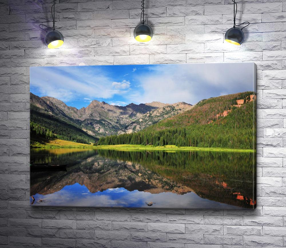 """Картина """"Отражение горы в реке"""""""