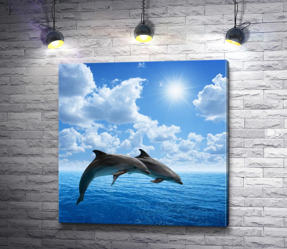 """Картина """"Прыжок дельфинов"""""""