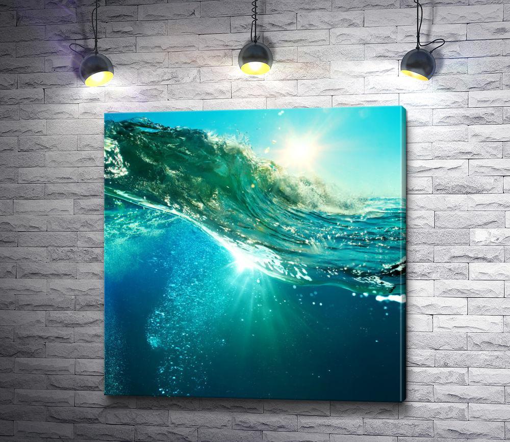 """Картина """"Солнце под водой"""""""