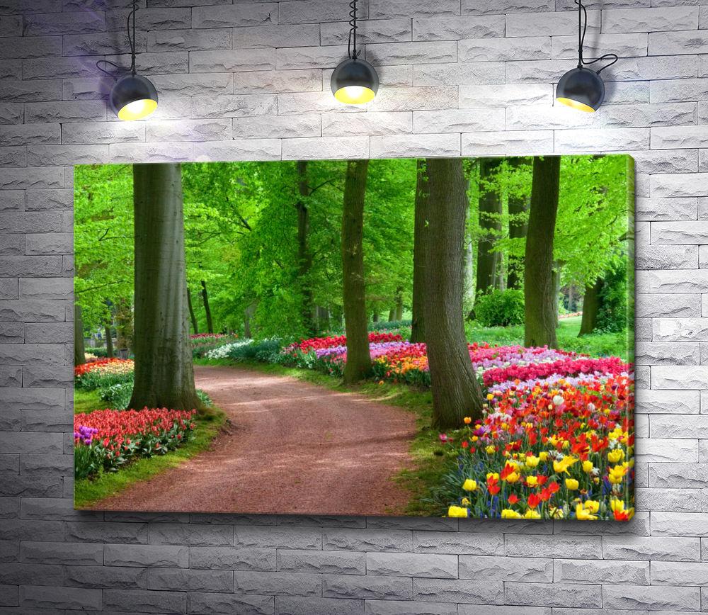 """Картина """"Рай из тюльпанов"""""""