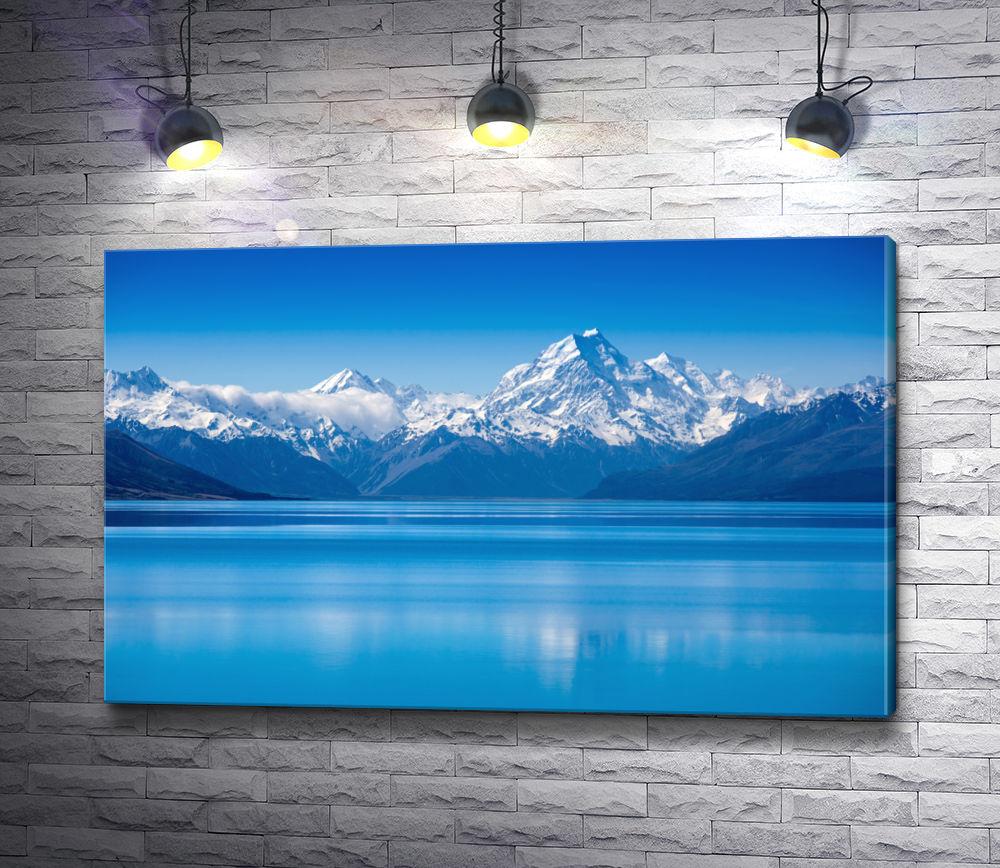 """Картина """"Голубая вода у подножья холодных гор"""""""