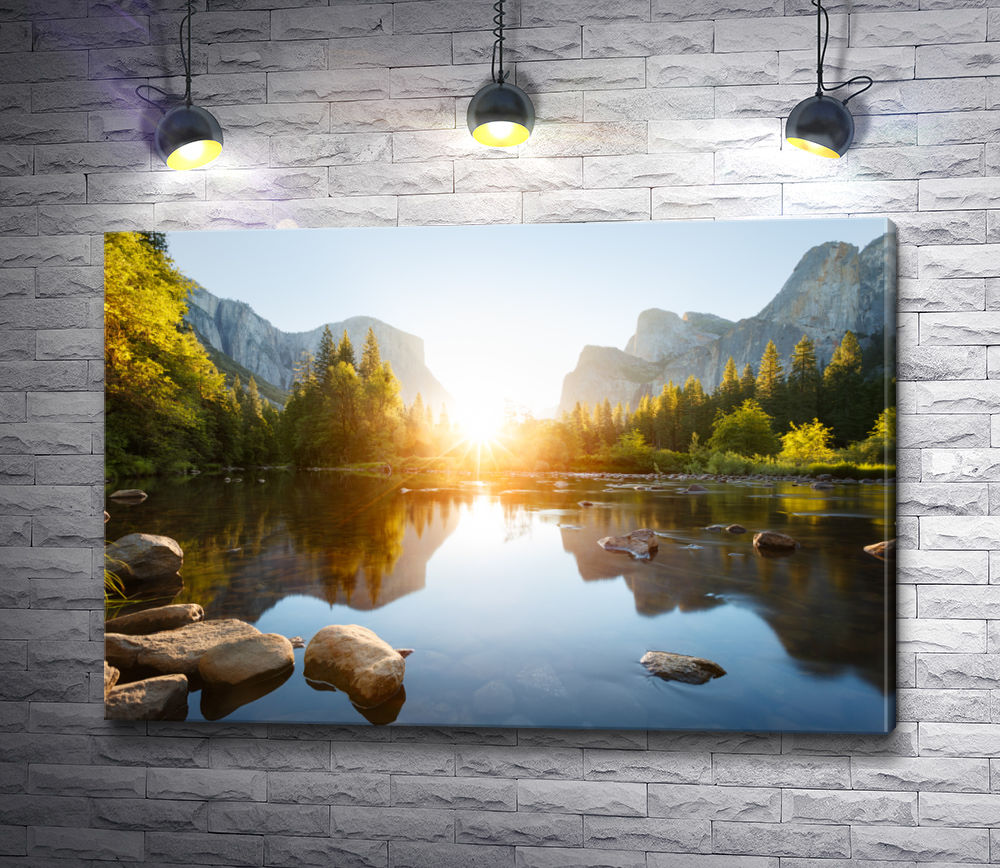"""Картина """"Солнце между гор"""""""
