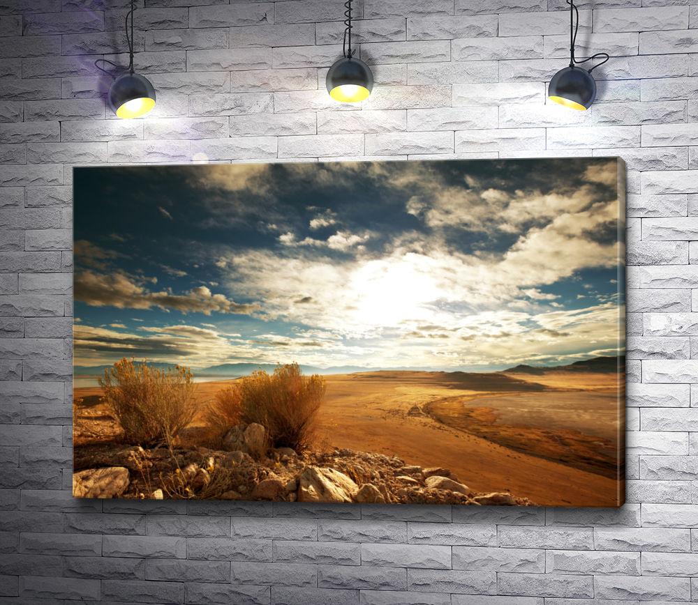 "Картина ""Пустыня и красивое небо"""